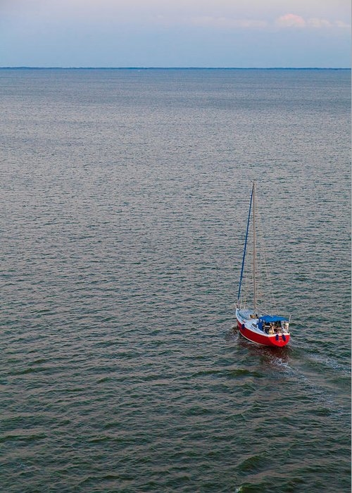 Boat Greeting Card featuring the photograph Out To Sea by Chad Dutson