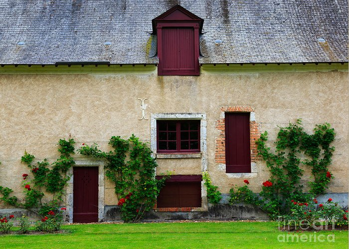 Outbuildings Greeting Card featuring the photograph Outbuildings Of Chateau Cheverny by Louise Heusinkveld