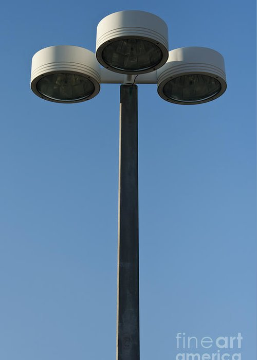 Lamp Greeting Card featuring the photograph Outdoor Lamp Post by Blink Images