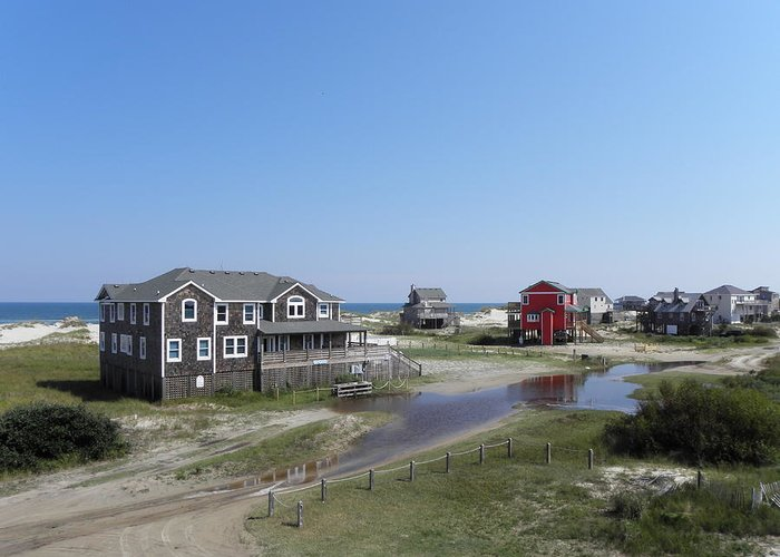 Outer Greeting Card featuring the photograph Outer Banks Nc by Kim Galluzzo Wozniak