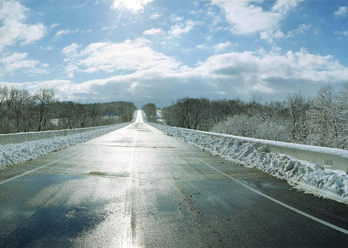 Road Greeting Card featuring the photograph Over The Hill And Beyond by Jan W Faul