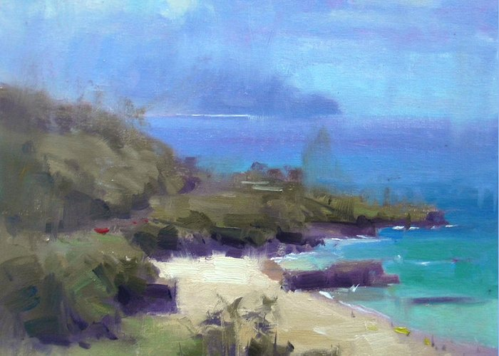 Hawaii Greeting Card featuring the painting Over Waimea by Richard Robinson
