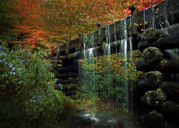 Waterchute Greeting Card featuring the photograph Overflow by Ron Sloan
