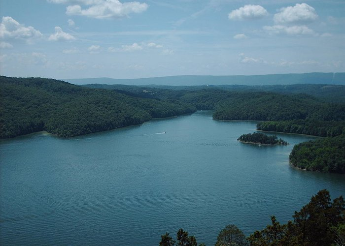 Lake Greeting Card featuring the photograph Overlook by Christopher Woytowiez