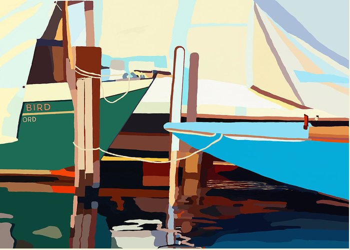 Boats Greeting Card featuring the photograph Oxford Harbor by Jim Proctor