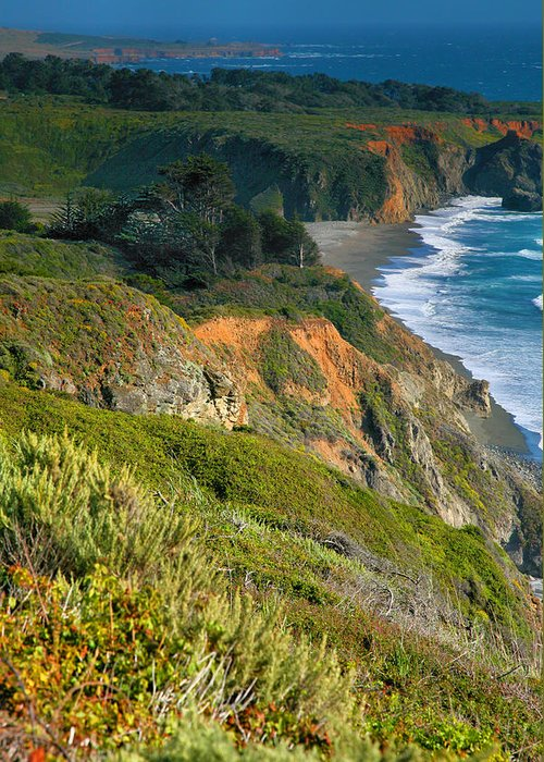 Pacific Ocean Greeting Card featuring the photograph Pacific Shoreline Vii by Steven Ainsworth