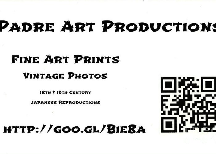 Padre Art Productions Qr-card Greeting Card featuring the photograph Padre Art Productions Qr Card by Padre Art