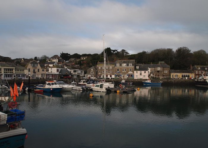 Padstow Greeting Card featuring the photograph Padstow Harbour by Christopher Mercer