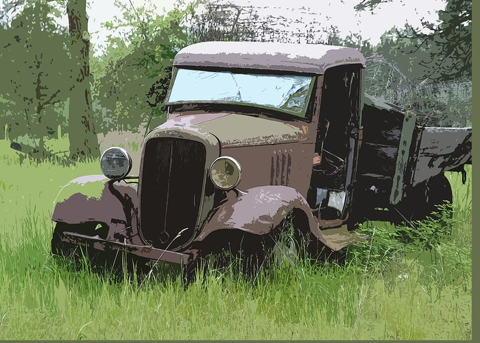 Chevy Truck Greeting Card featuring the photograph Painted 30's Chevy Truck by Steve McKinzie
