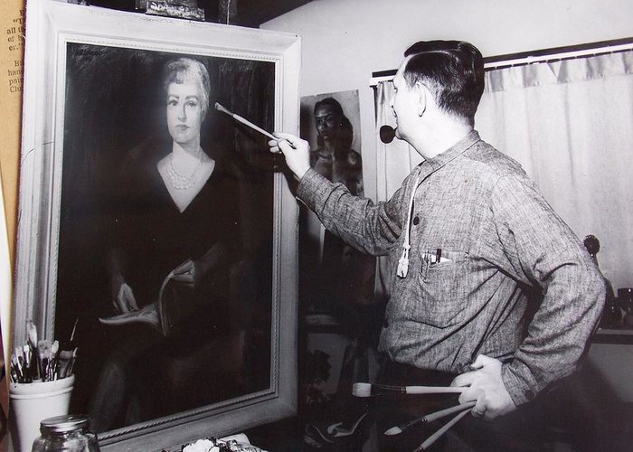Portrait Greeting Card featuring the photograph Painting A Portrait by Bill Joseph Markowski