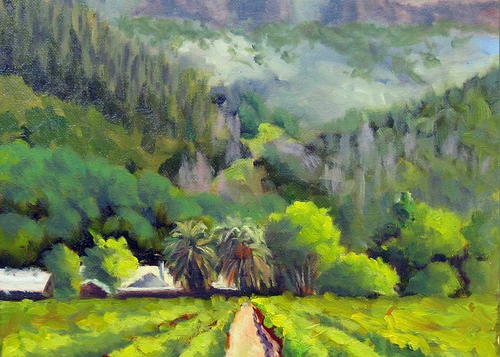 Vineyards Greeting Card featuring the painting Palisades Drive by Char Wood