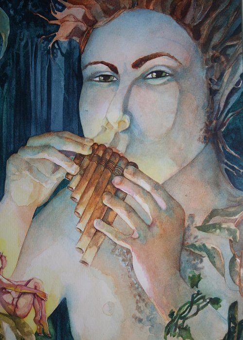 Pan Flute Fife Fairy Mid Summer Nights Dream Greeting Cards