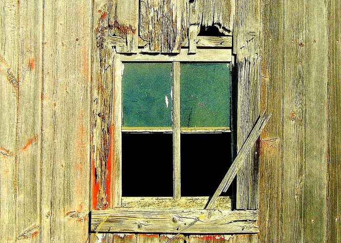 Window Greeting Card featuring the photograph Paneless by Claude Oesterreicher