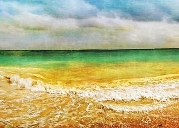 Tulum Greeting Card featuring the photograph Panoramic Seaside At Tulum by Tammy Wetzel