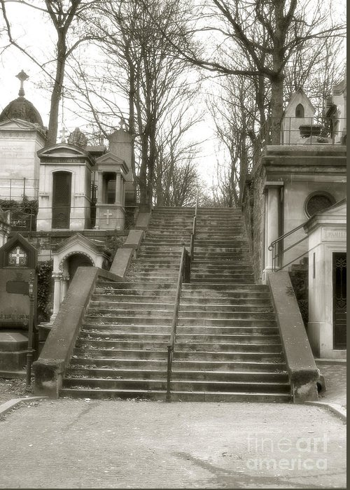Paris Pere La Chaise Cemetery Greeting Cards