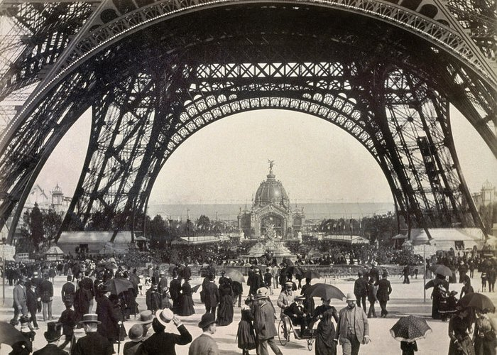 1889 Greeting Card featuring the photograph Paris Exposition, 1889 by Granger