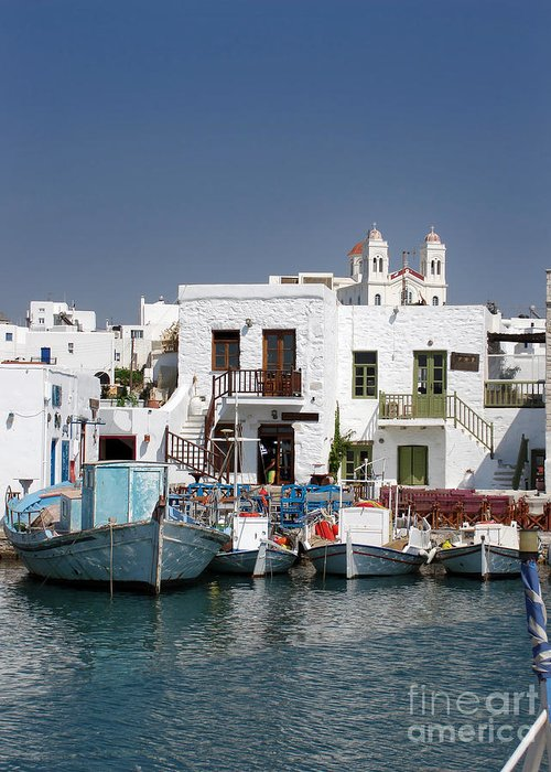 Aegean Greeting Card featuring the photograph Paros by Jane Rix