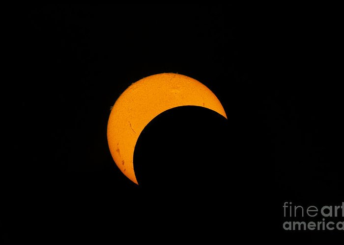 Natural Phenomenon Greeting Card featuring the photograph Partial Solar Eclipse Of 2012 by Phillip Jones