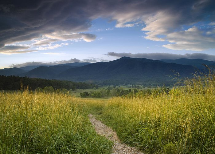 Smokies Greeting Card featuring the photograph Parting Clouds At The Smokies by Andrew Soundarajan