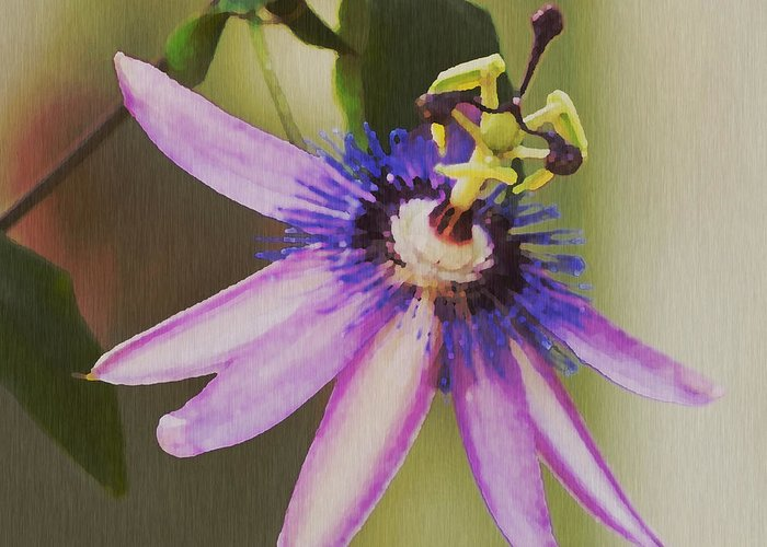 Passion Flower Greeting Card featuring the painting Passion Flower by Artist and Photographer Laura Wrede