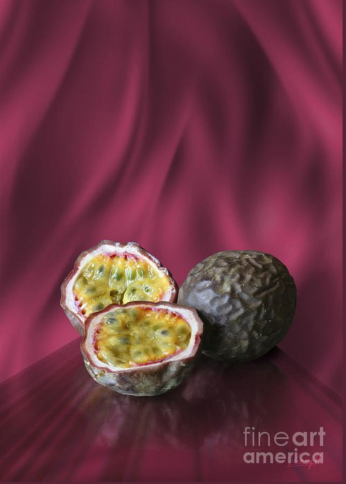 Passion Fruit Greeting Card featuring the digital art Passion Fruit by Johnny Hildingsson