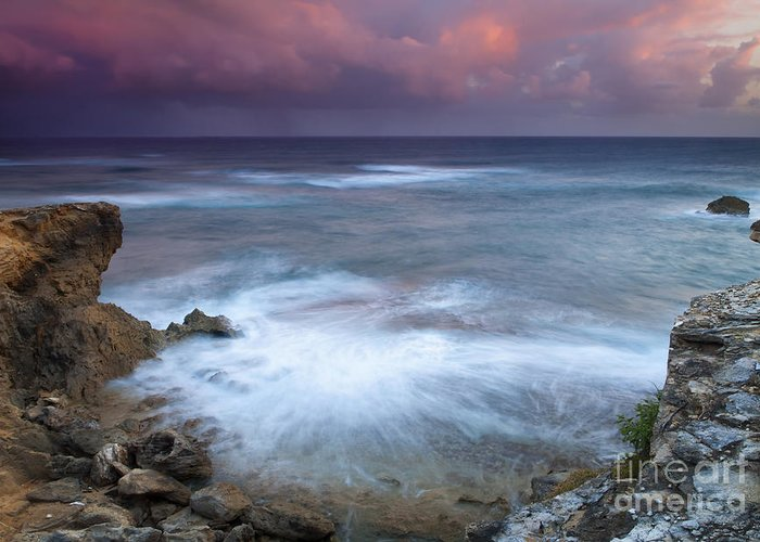 Kauai Greeting Card featuring the photograph Pastel Storm by Mike Dawson