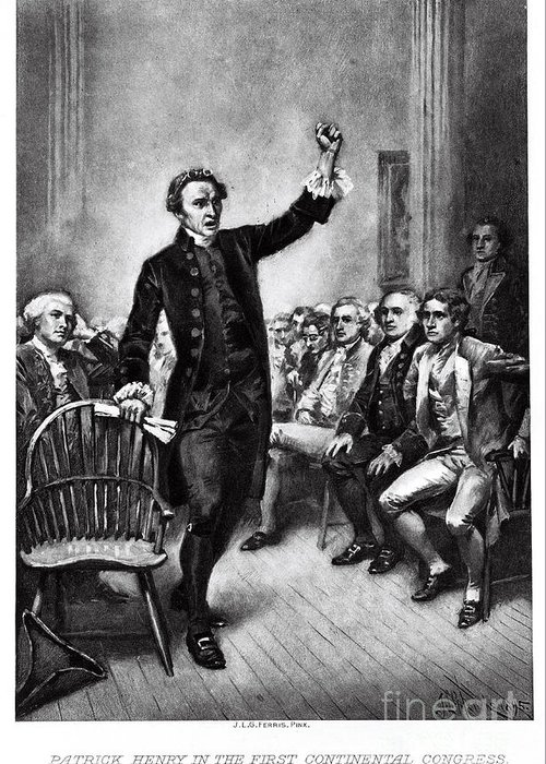 History Greeting Card featuring the photograph Patrick Henry, American Patriot by Photo Researchers