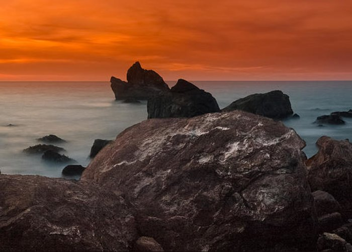 Patrick's Point Greeting Card featuring the photograph Patrick's Point Dusk Panorama by Greg Nyquist