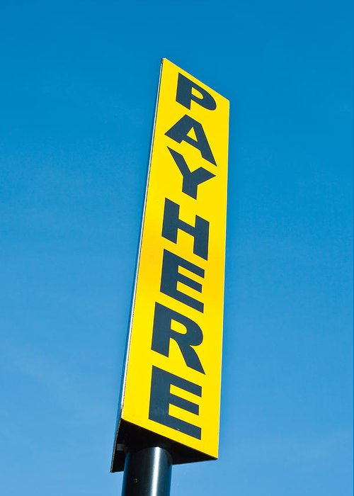 Pay Here Greeting Cards
