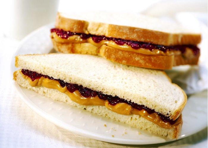 Peanut Greeting Card featuring the photograph Pbj Sandwich by Federico Arce