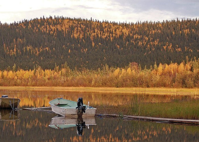 Harding Lake Greeting Card featuring the photograph Peaceful Harding Lake by Jim and Kim Shivers
