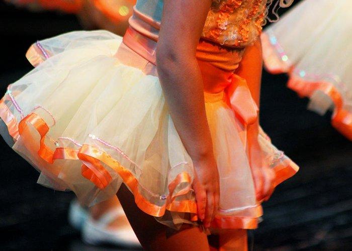 Ballet Greeting Card featuring the photograph Peach Tutu by Lauri Novak