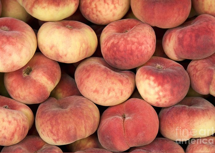 Agriculture Greeting Card featuring the photograph Peaches by Jane Rix