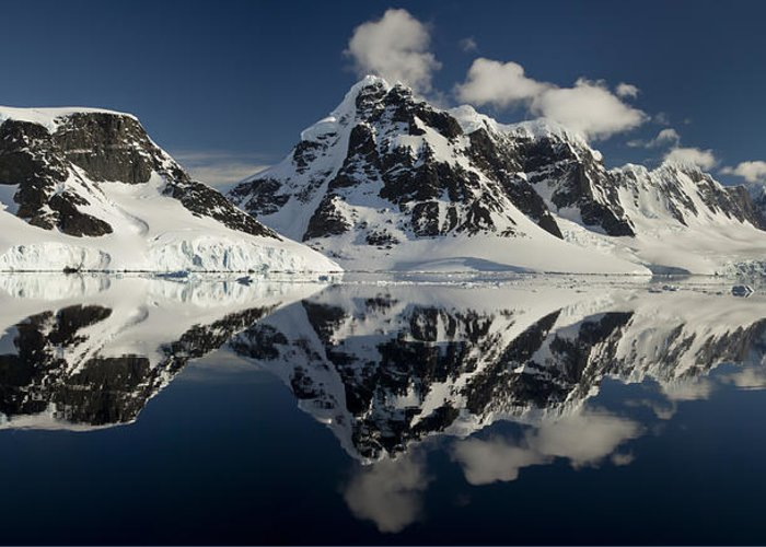 00479577 Greeting Card featuring the photograph Peaks Along Neumayer Channel by Colin Monteath