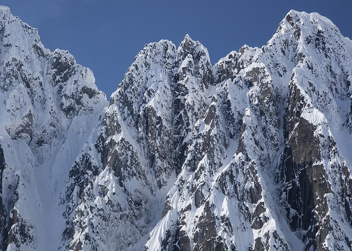 Mp Greeting Card featuring the photograph Peaks Of Takhinsha Mountains by Matthias Breiter