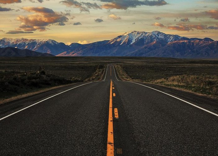 Idaho Greeting Card featuring the photograph Peaks To Craters Highway by Benjamin Yeager