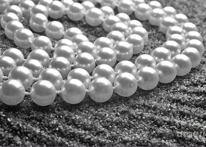 Pearls Greeting Card featuring the photograph Pearls And Sand by Gabriela Insuratelu