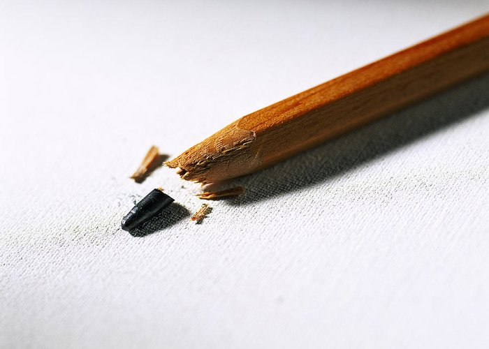 Pencil Greeting Card featuring the photograph Pencil by Kevin Curtis