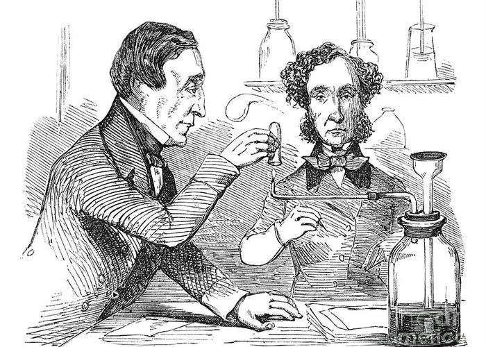 Science Greeting Card featuring the photograph Performing The Marsh Test, 1856 by Science Source