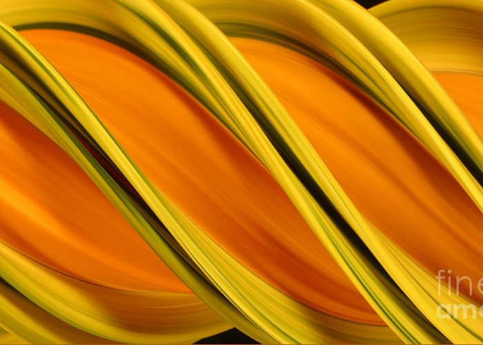 Design Greeting Card featuring the photograph Peripheral Streak Image Of Squash by Ted Kinsman