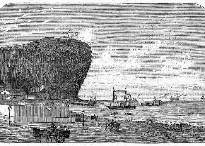 1880 Greeting Card featuring the photograph Peru: Arica, 1880 by Granger