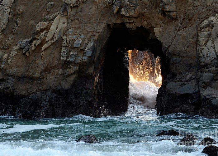 Pfeiffer Rock Greeting Card featuring the photograph Pfeiffer Rock Big Sur by Bob Christopher