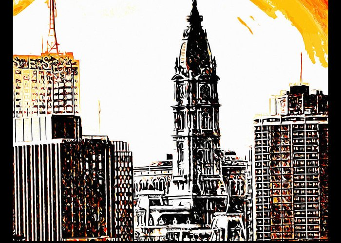 Philadelphia Poster Greeting Card featuring the photograph Philadelphia Poster by Bill Cannon