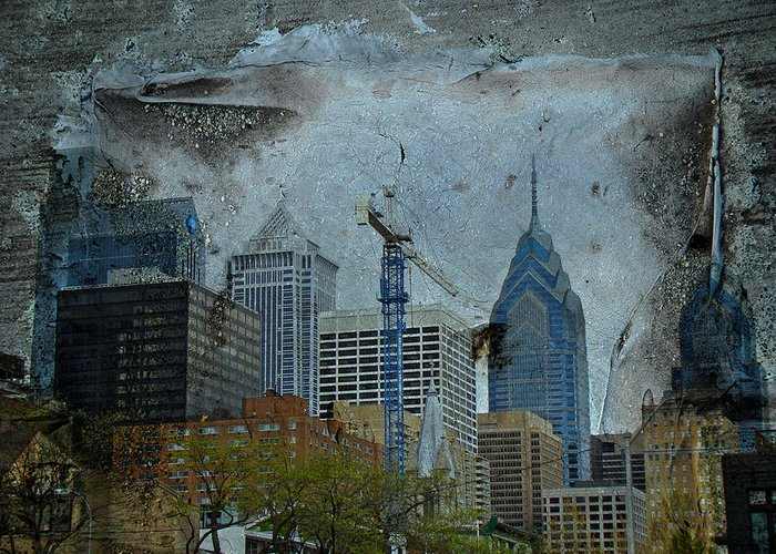 Philadelphia Greeting Card featuring the photograph Philadelphia Skyline by Mother Nature