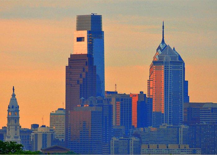 Philadelphia Sunrise Greeting Card featuring the photograph Philadelphia Sunrise by Bill Cannon