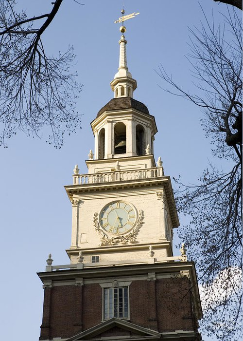 Philadelphia Greeting Card featuring the photograph Philadelphias Independence Hall by Tim Laman