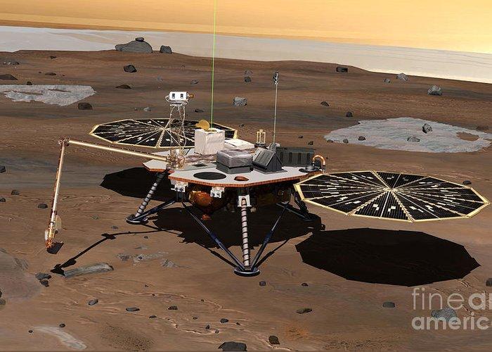 Phoenix Mars Lander Greeting Card featuring the photograph Phoenix Lander On Mars by Nasa