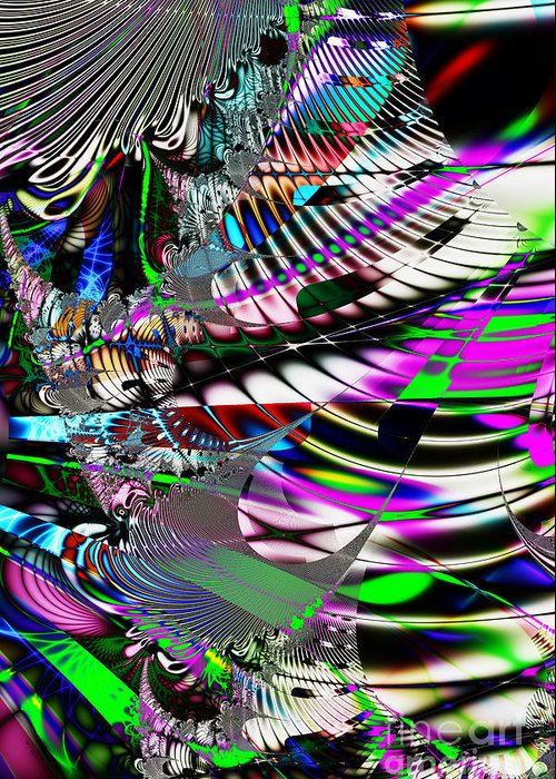 Fractal Greeting Card featuring the digital art Phoenix Rising . S3.s9 by Wingsdomain Art and Photography