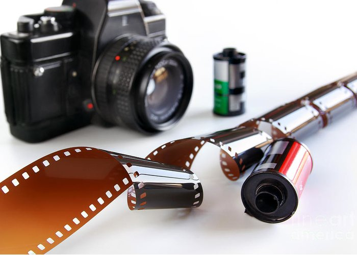 35mm Greeting Card featuring the photograph Photography Gear by Carlos Caetano