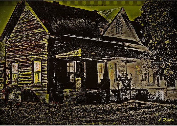 House Greeting Card featuring the photograph Photos in an Attic - Homestead by Leslie Revels